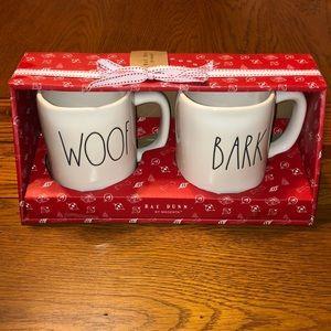 NEW Rae Dunn Woof/Bark Mug Gift-set